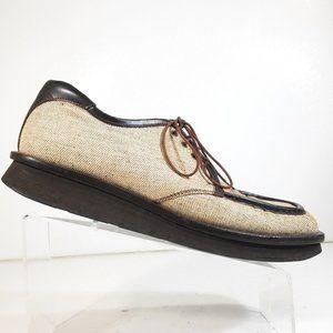 Rare Prada Men Textile Oxford Dress Shoes Size 9.5